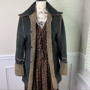 Ann Demeulemeester shearling leather coat size 38